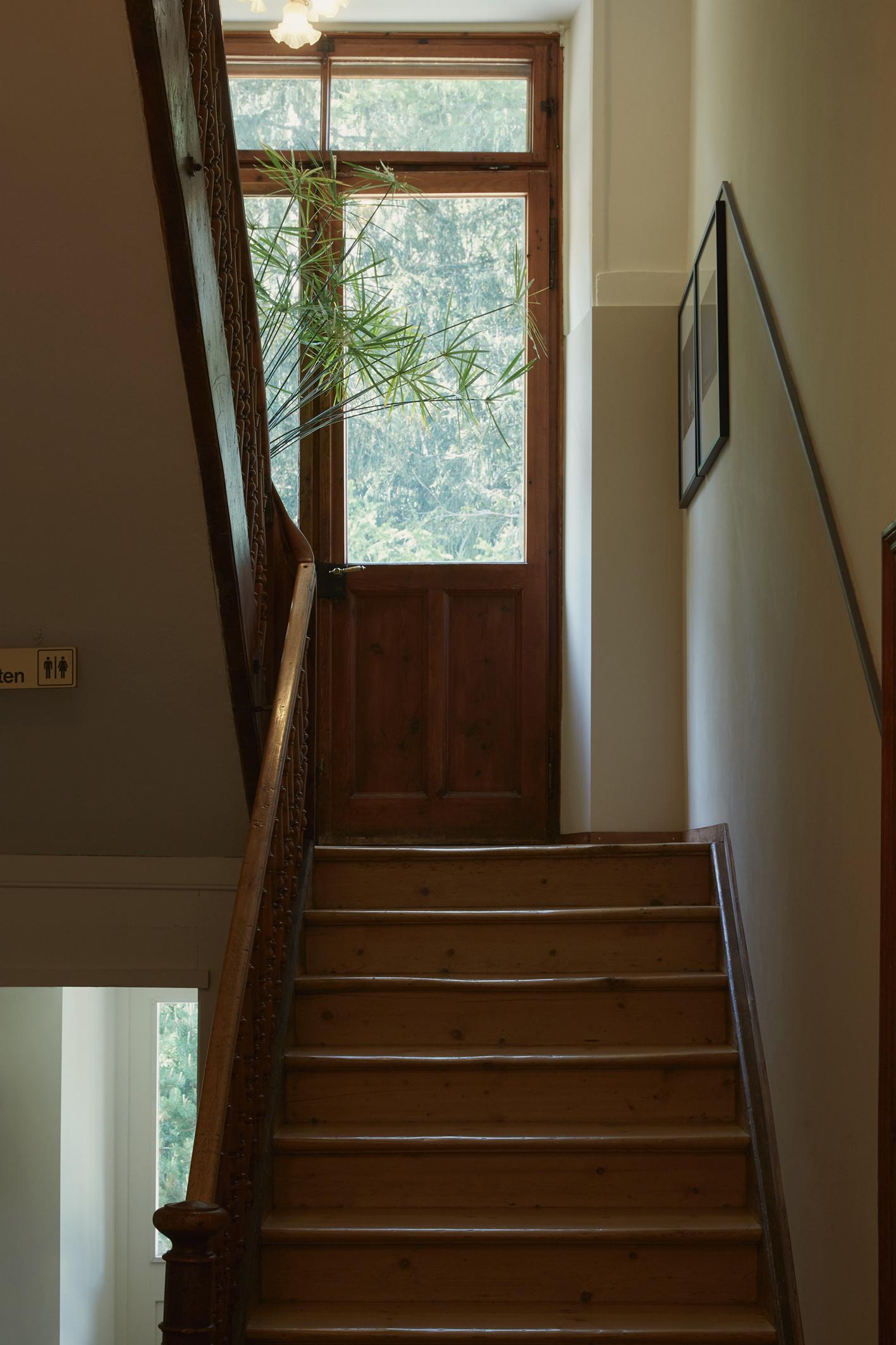 Sorgfältig restauriertes Treppenhaus